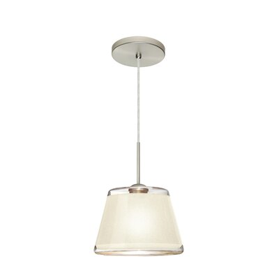 Pica 1-Light Mini Pendant Finish: Satin Nickel, Shade Color: White