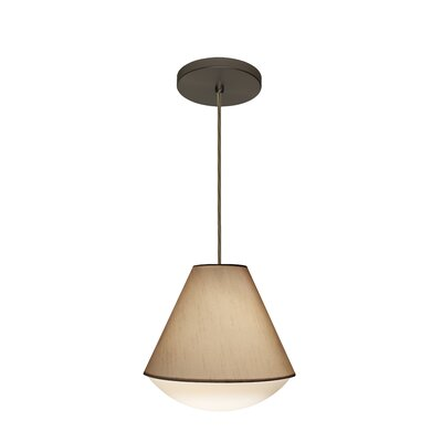 Reflex 1-Light Pendant Finish: Brushed Bronze, Shade Color: Creme