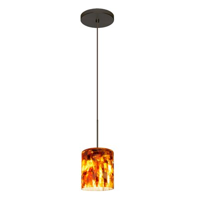 Falla 1 Bulb Mini Pendant Finish: Brushed Bronze