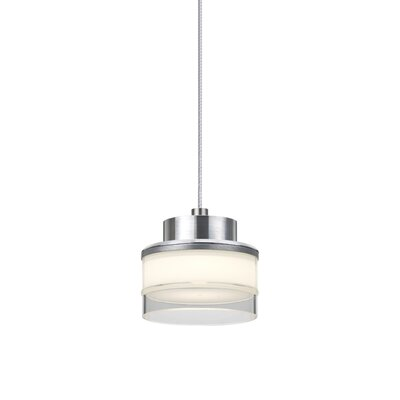 Pivot 1 LED Integrated Bulb Mini Pendant Shade Color: Clear