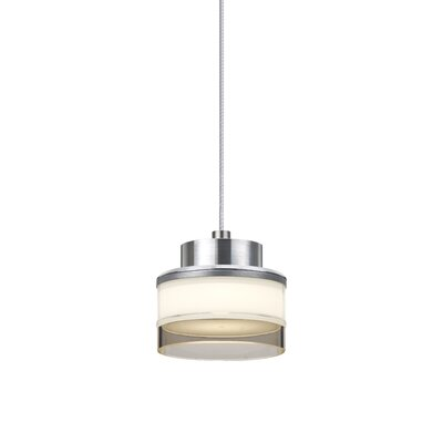 Pivot 1 LED Integrated Bulb Mini Pendant Shade Color: Smoke