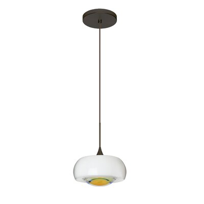 Focus 1-Light Mini Pendant Finish: Brushed Bronze