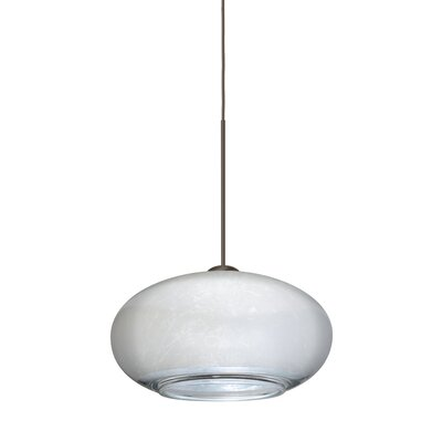 Brio 1-Light Globe Pendant Finish: Brushed Bronze, Shade Color: Silver Foil