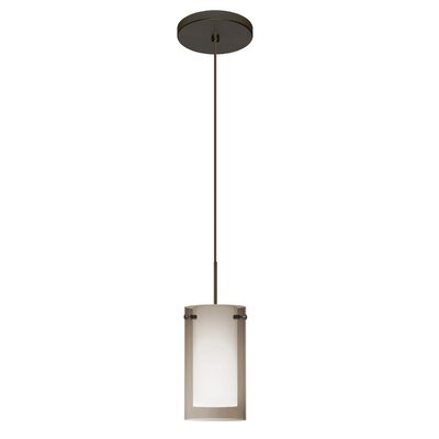 Pahu 1-Light Mini Pendant Finish: Brushed Bronze, Shade Color: Smoke