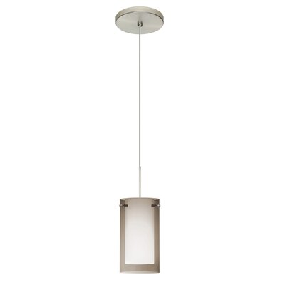 Pahu 1-Light Mini Pendant Shade Color: Smoke, Finish: Satin Nickel