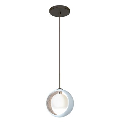 Speidel 1 LED Integrated Bulb Mini Pendant Finish: Brushed Bronze, Shade Color: Silver Foil