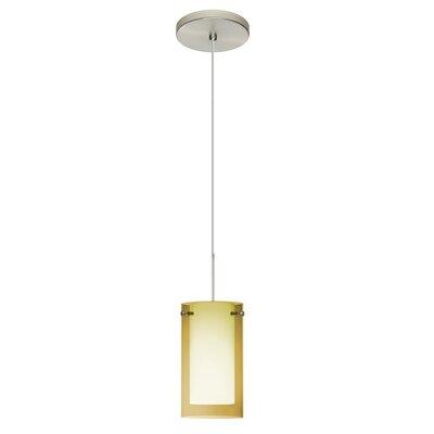 Pahu 1-Light Mini Pendant Finish: Satin Nickel, Shade Color: Gold