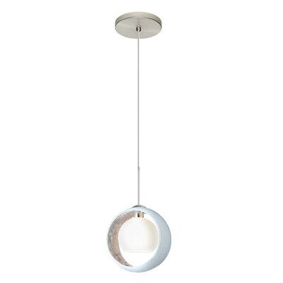 Speidel 1 LED Integrated Bulb Mini Pendant Finish: Satin Nickel, Shade Color: Silver Foil
