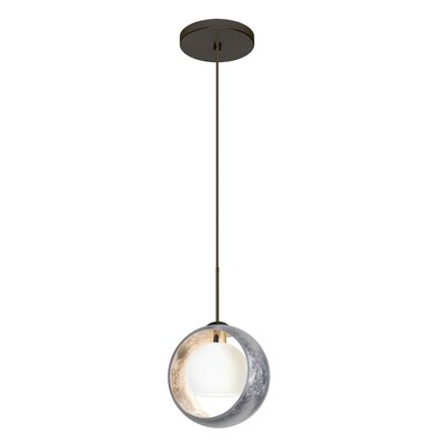 Pogo 1-Light Mini Pendant Finish: Brushed Bronze, Shade Color: Silver Foil, Bulb Type: LED