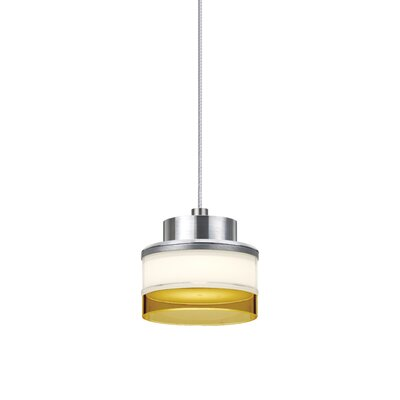 Pivot 1 LED Integrated Bulb Mini Pendant Shade Color: Amber