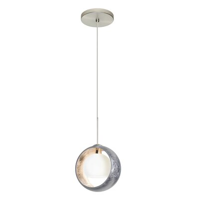Pogo 1-Light Mini Pendant Finish: Satin Nickel, Shade Color: Silver Foil, Bulb Type: Halogen