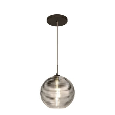 Kristall 1 Integrated Bulb Globe Pendant Finish: Brushed Bronze, Shade Color: Smoke