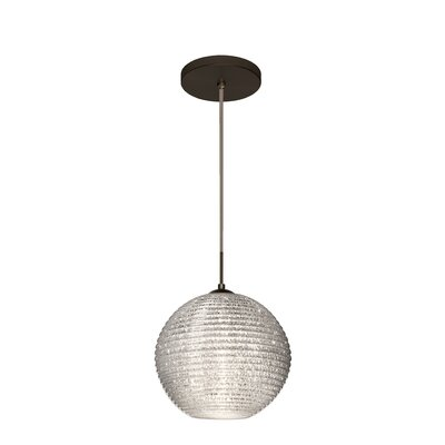 Kristall 1 Integrated Bulb Globe Pendant Finish: Brushed Bronze, Shade Color: Glitter
