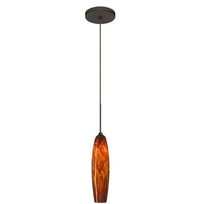 Zumi 1-Light Mini Pendant Finish: Brushed Bronze