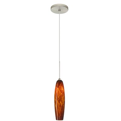 Zumi 1 LED Integrated Bulb Mini Pendant Finish: Satin Nickel