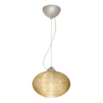 Pape 1-Light Globe Pendant Finish: Satin Nickel, Shade Color: Gold Glitter, Size: 7.5 H x 11.75 W x 11.75 D