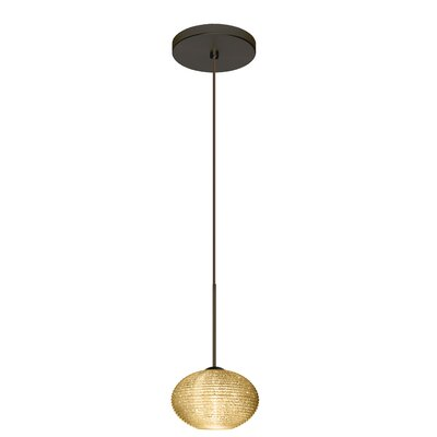 Lasso 1 Bulb Globe Pendant Finish: Brushed Bronze