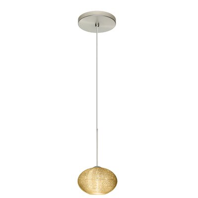 Lasso 1 Bulb Globe Pendant Finish: Satin Nickel