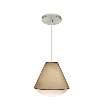 Reflex 1-Light Pendant Finish: Satin Nickel, Shade Color: Creme