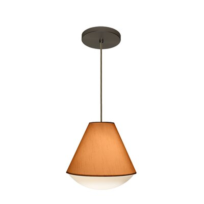 Reflex 1-Light Pendant Finish: Brushed Bronze, Shade Color: Gold