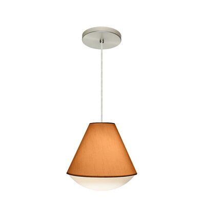 Reflex 1-Light Pendant Finish: Satin Nickel, Shade Color: Gold