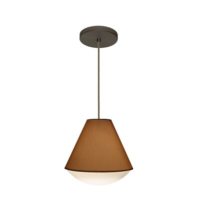 Reflex 1-Light Pendant Finish: Brushed Bronze, Shade Color: Tan