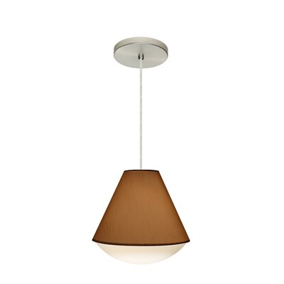 Reflex 1-Light Pendant Finish: Satin Nickel, Shade Color: Tan