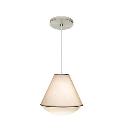 Reflex 1-Light Pendant Finish: Satin Nickel, Shade Color: White