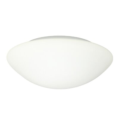 Nova 1-Light Flush Mount Glass Shade: White