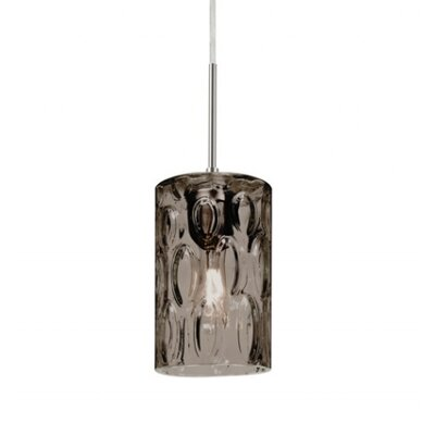 Cruise 1-Light Mini Pendant Finish: Satin Nickel, Shade Color: Smoke