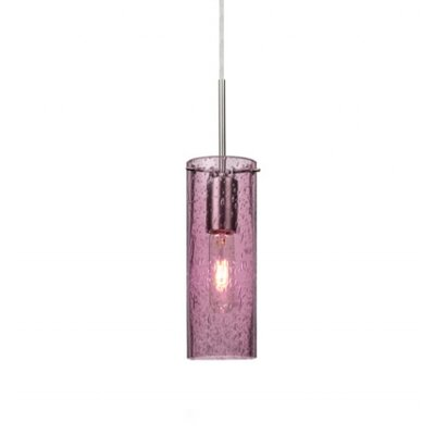 Cattalina 1-Light Mini Pendant Finish: Satin Nickel, Shade Color: Plum, Size: 10 H x 3.5 W x 3.5 D
