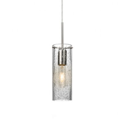 Cattalina 1-Light Mini Pendant Finish: Satin Nickel, Shade Color: Clear, Size: 10 H x 3.5 W x 3.5 D