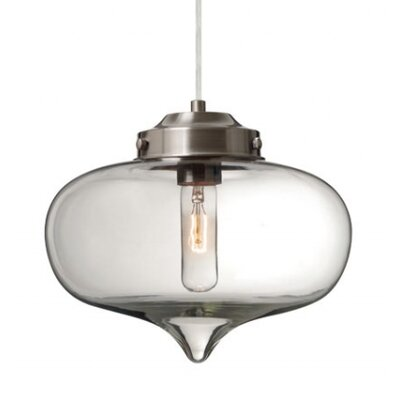 Sperling 1-Light Mini Pendant Finish: Satin Nickel, Shade Color: Clear