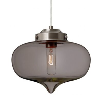 Sperling 1-Light Mini Pendant Finish: Satin Nickel, Shade Color: Transmirror
