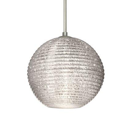 Kristall 1-Light Globe Pendant Finish: Satin Nickel, Shade Color: Glitter