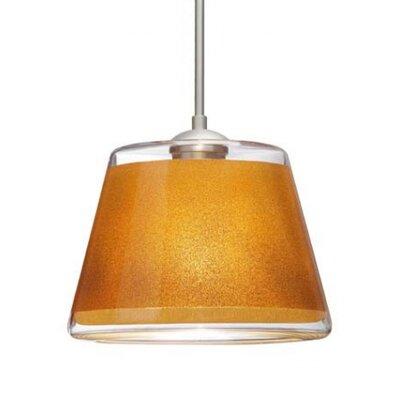 Pica 1-Light Mini Pendant Finish: Satin Nickel, Shade Color: Gold