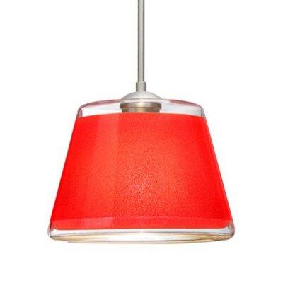 Pica 1-Light Mini Pendant Finish: Satin Nickel, Shade Color: Red