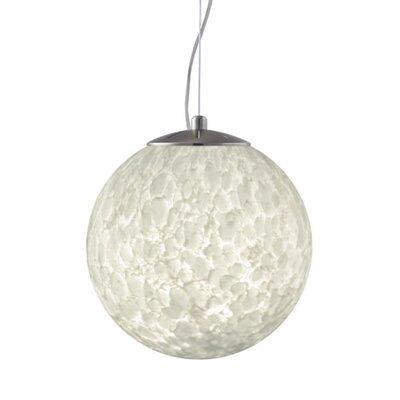 Callisto 1-Light Globe Pendant Finish: Satin Nickel, Size: 13.25 H x 13.75 W x 13.75 D