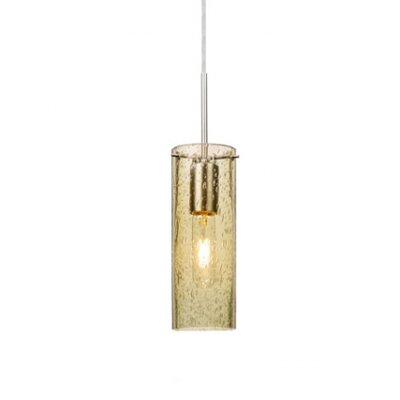 Cattalina 1-Light Mini Pendant Finish: Satin Nickel, Shade Color: Gold, Size: 10 H x 3.5 W x 3.5 D