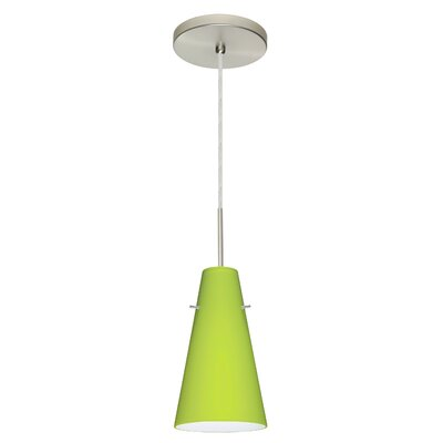 Cierro 1 Integrated Bulb Mini Pendant Finish: Satin Nickel