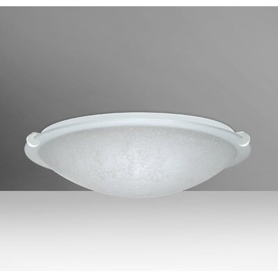 Trio 1-Light Flush Mount Finish: White