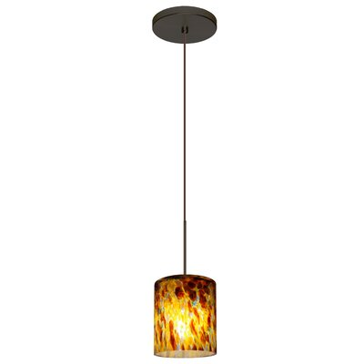 Falla 1 LED Integrated Bulb Mini Pendant Finish: Brushed Bronze