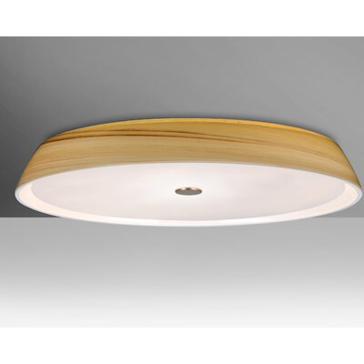 Speier 3-Light Flush Mount Shade Color: Cream, Bulb Type: LED