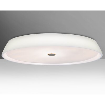 Sophi 3-Light Flush Mount Shade Color: Opal, Bulb Type: Halogen