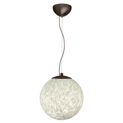 Callisto 1-Light Globe Pendant Finish: Brushed Bronze, Size: 13.25 H x 13.75 W x 13.75 D