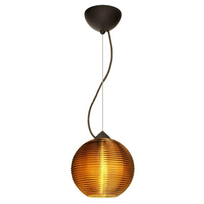 Kristall 1-Light Globe Pendant Finish: Brushed Bronze, Shade Color: Smoke