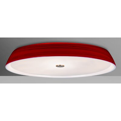 Speier 2-Light Flush Mount Shade Color: Red