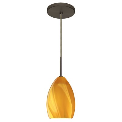 Euka 1-Light Mini Pendant Finish: Brushed Bronze