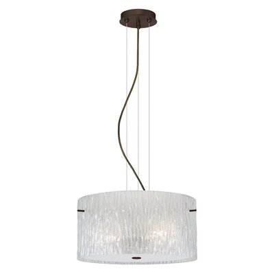 Tamburo 1-Light Drum Pendant Finish: Satin Nickel, Bulb Type: Incandescent