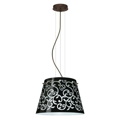 Amelia 3-Light Drum Pendant Finish: Satin Nickel, Shade Color: White